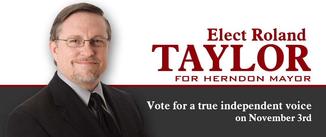 Roland Taylor for Herndon Mayor